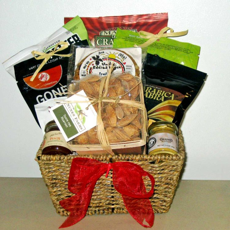 Happy Vegan gift basket