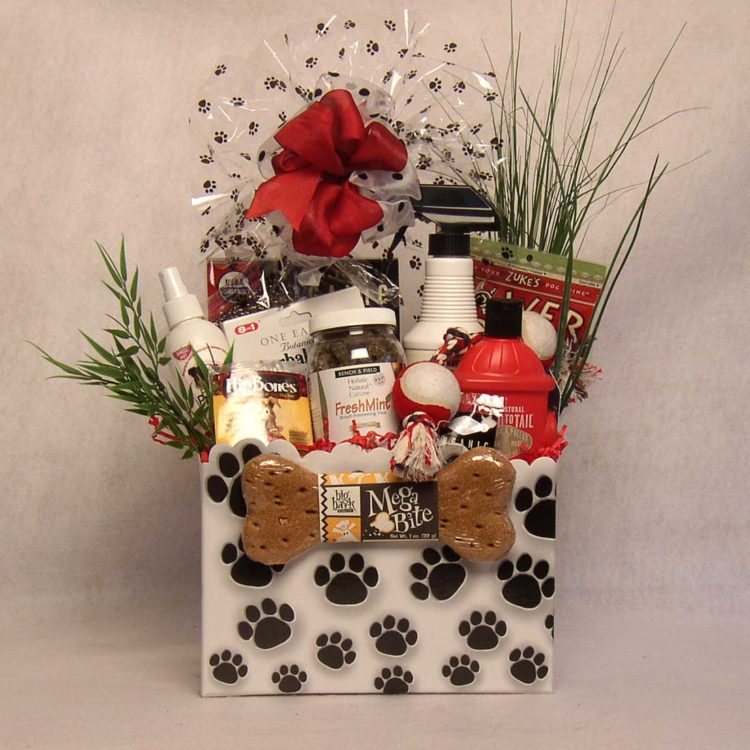 Hiking With Fido gift basket